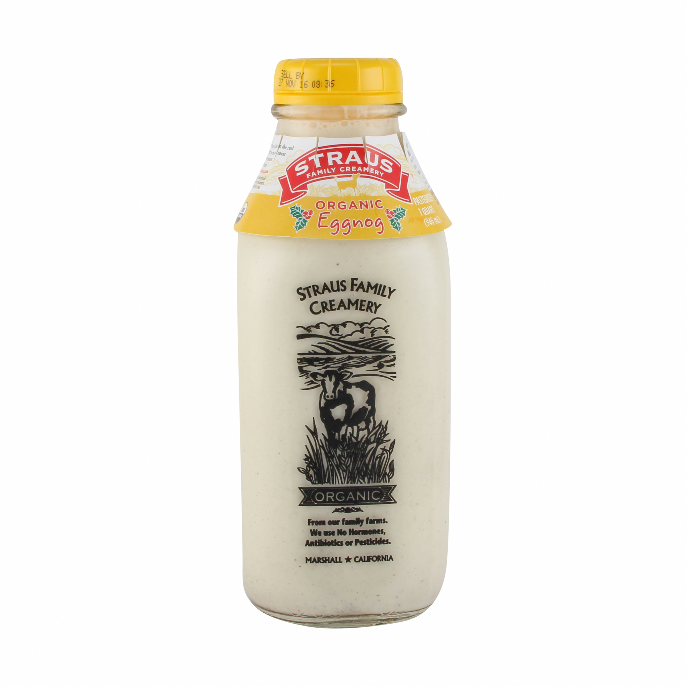 Organic Eggnog, 1 qt, Straus Family Creamery | Whole Foods Market