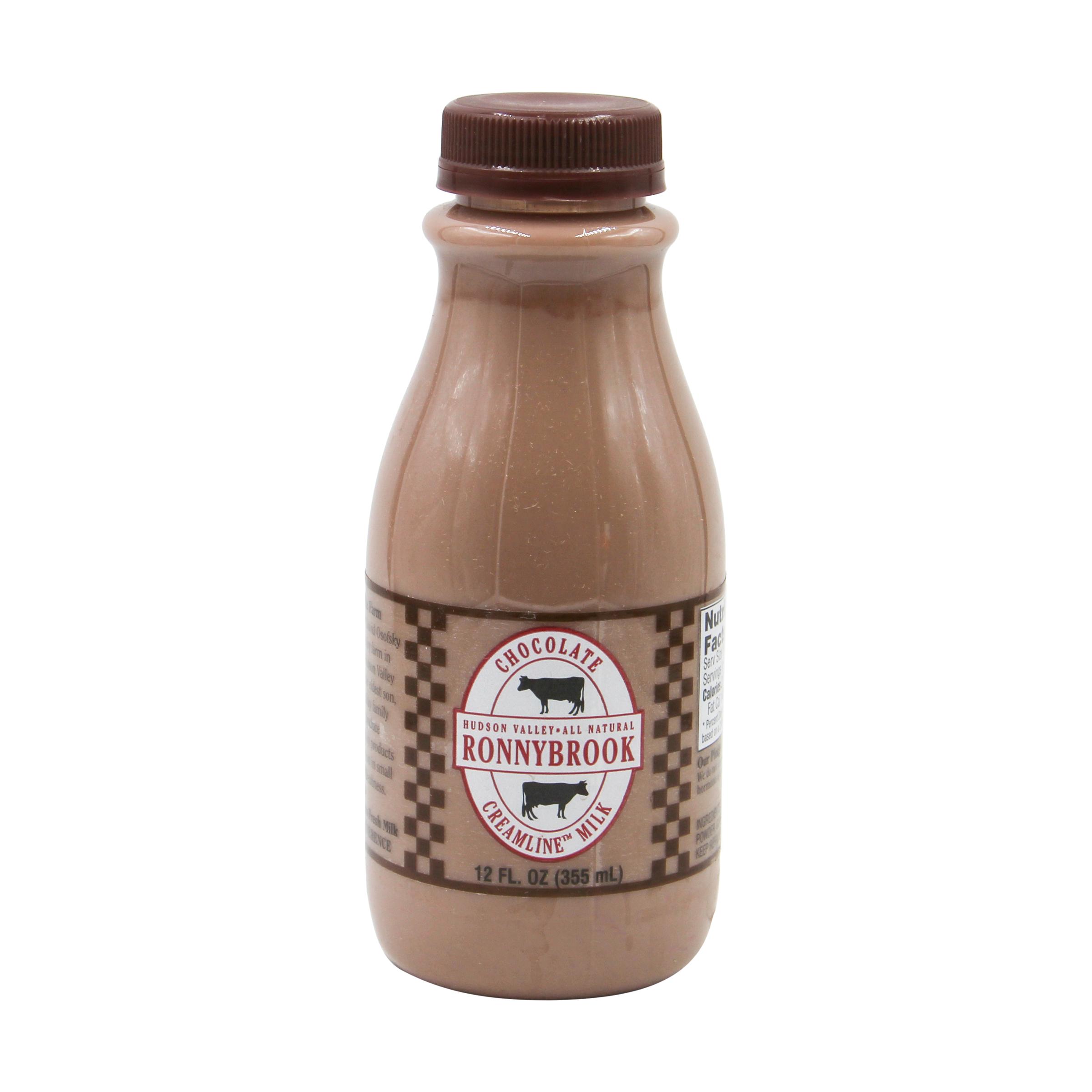 Chocolate Creamline Milk, 12 fl  oz , Ronnybrook Farm Dairy