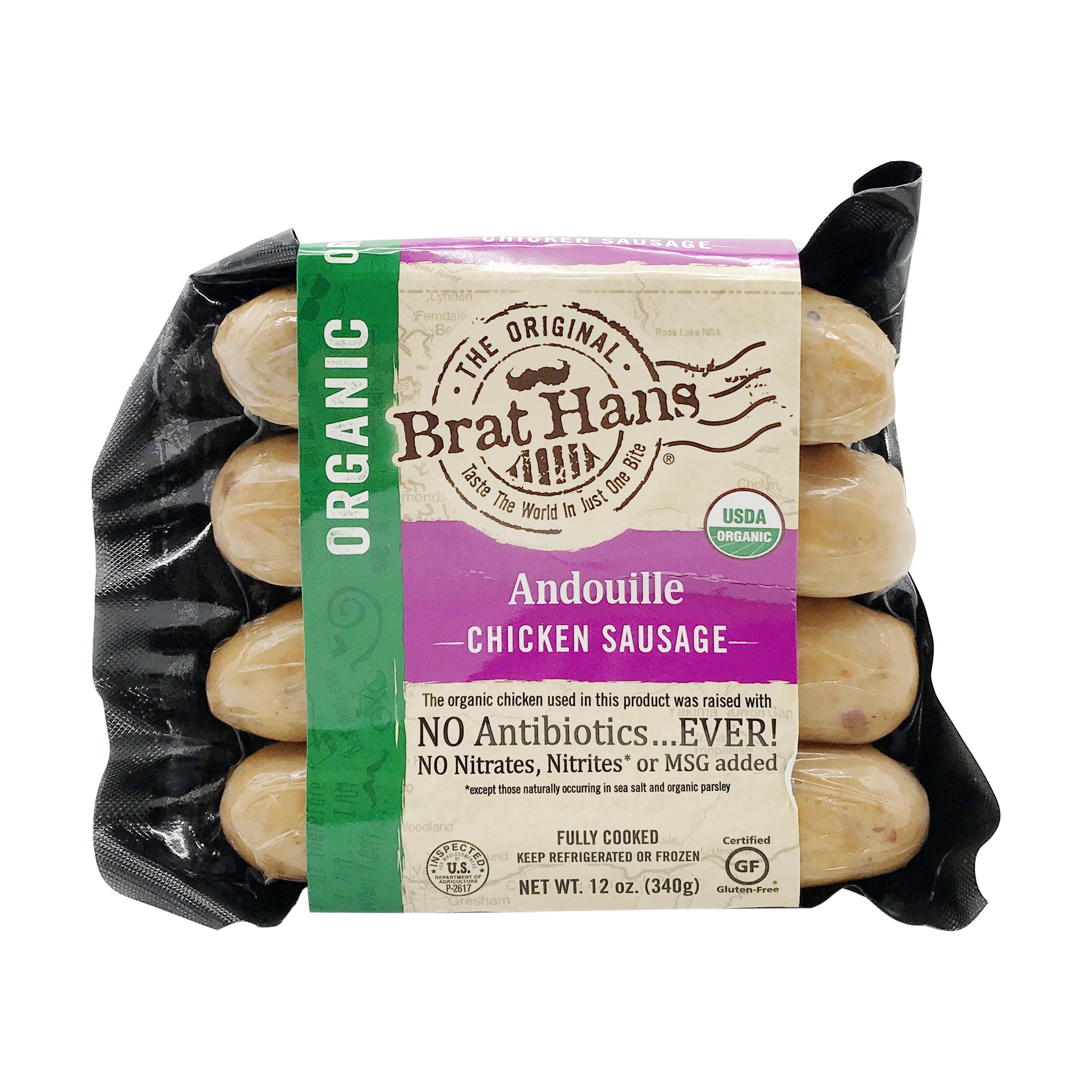 Organic Andouille Chicken Sausage, 12 oz, The Original Brat