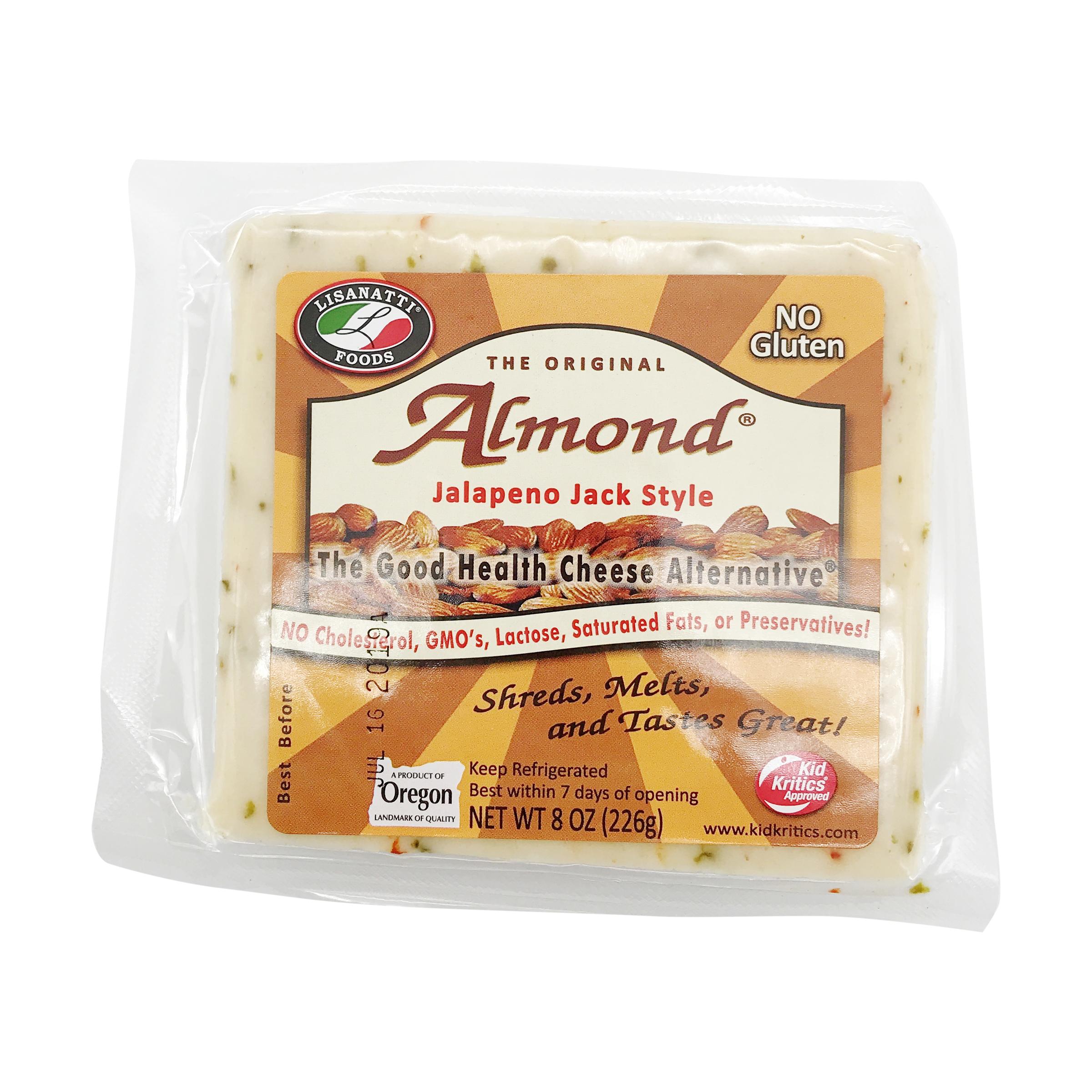 Jalapeno Jack Style Almond Cheese Alternative, 8 oz
