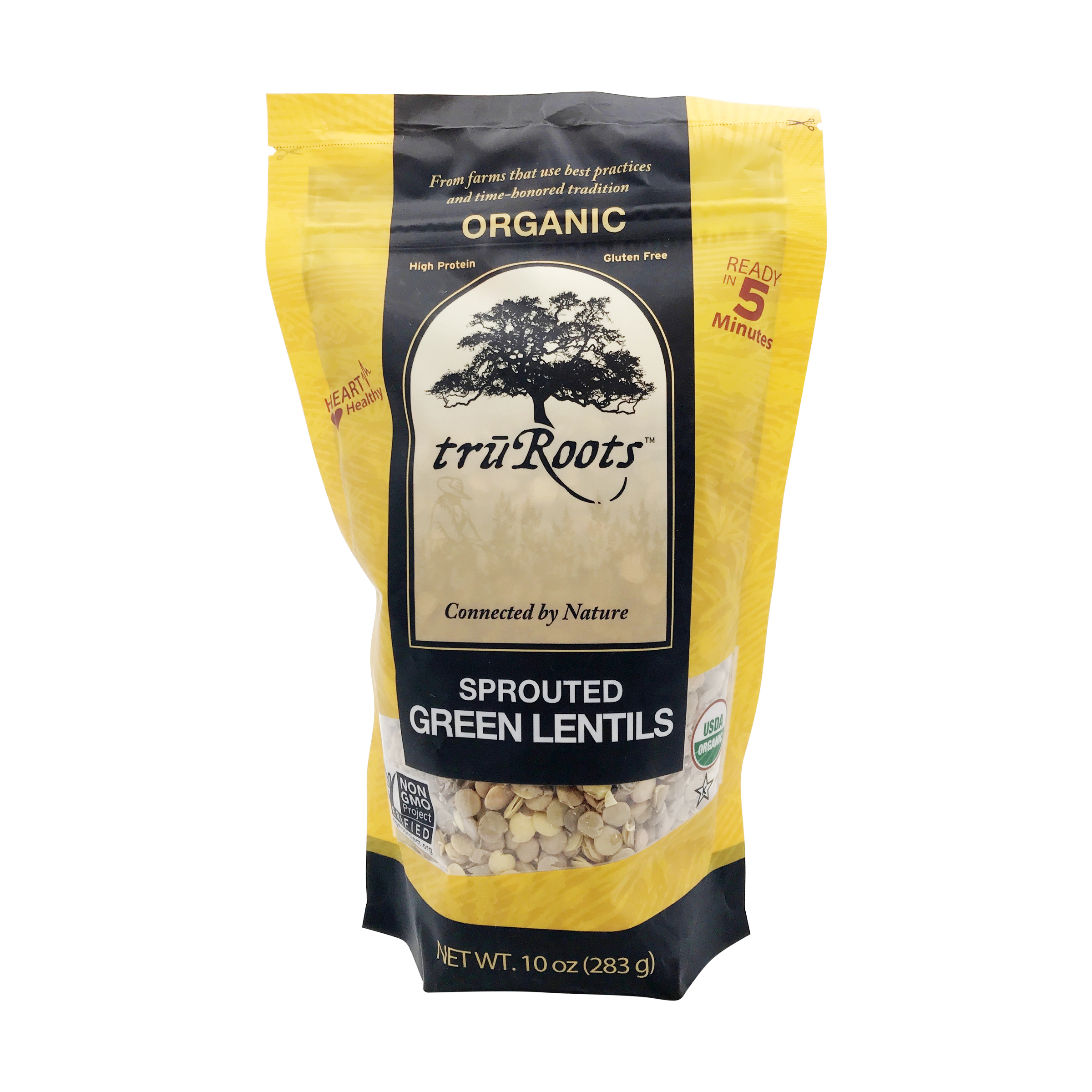 Organic Sprouted Green Lentils, 10 oz, truRoots | Whole