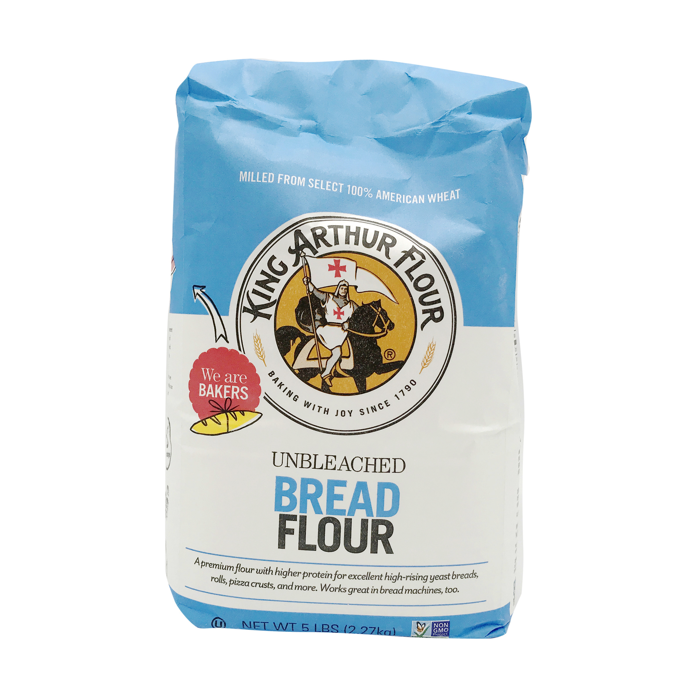 Unbleached Bread Flour, 5 lb, King Arthur Flour   Whole