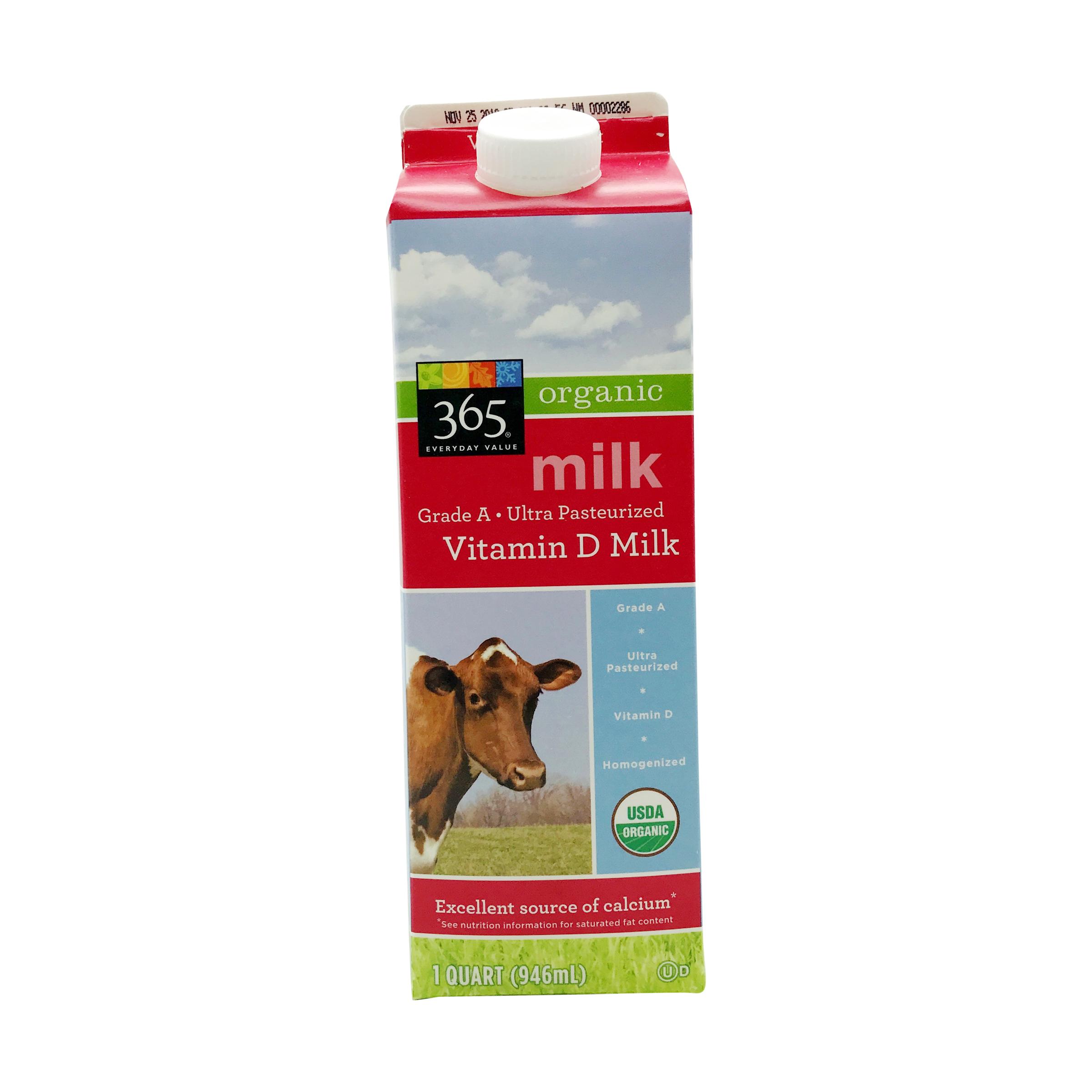 Organic Milk 1 Quart 365 Everyday Value Whole Foods Market