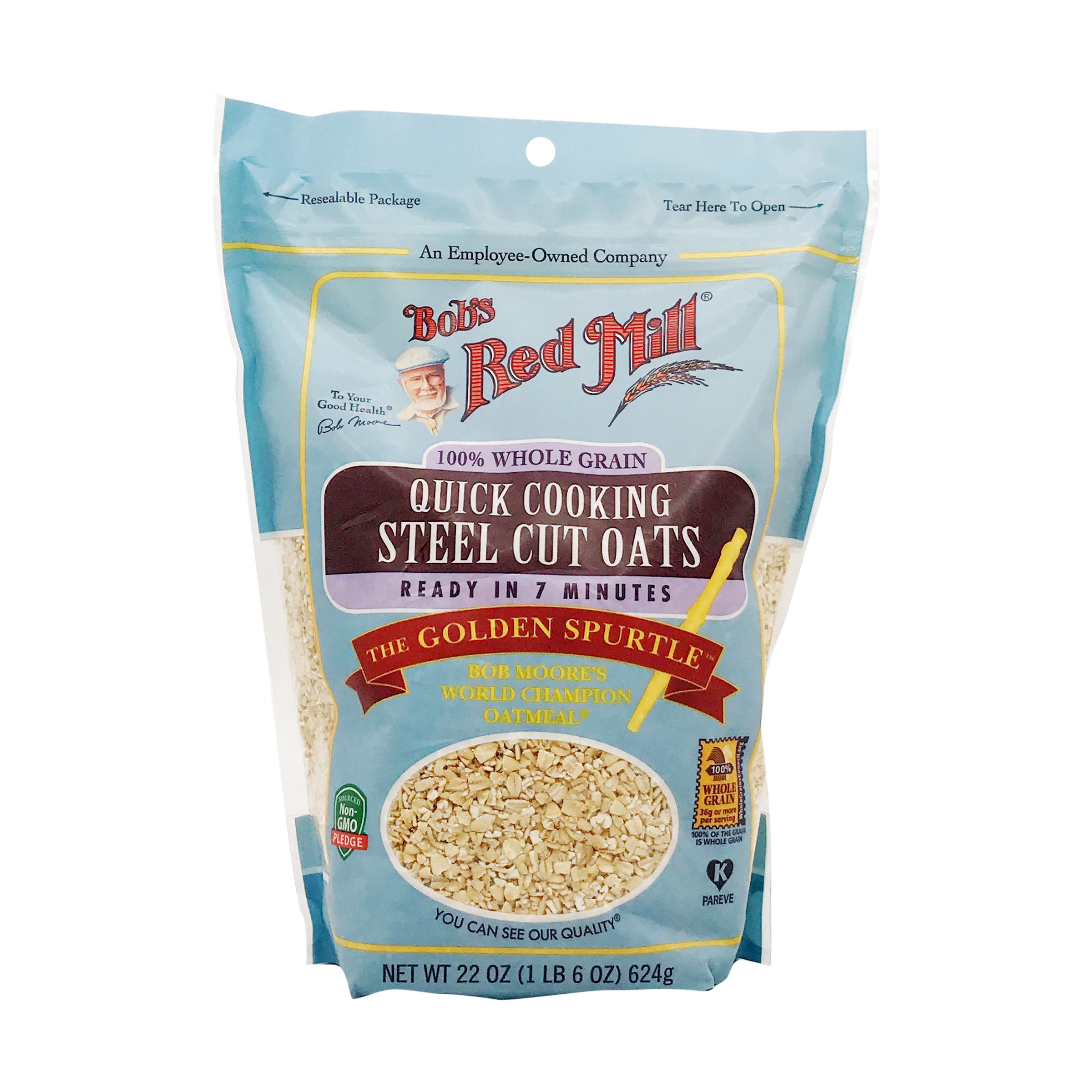 Steel Cut Quick Cook Oats 22 Oz Bob S Red Mill Whole Foods Market