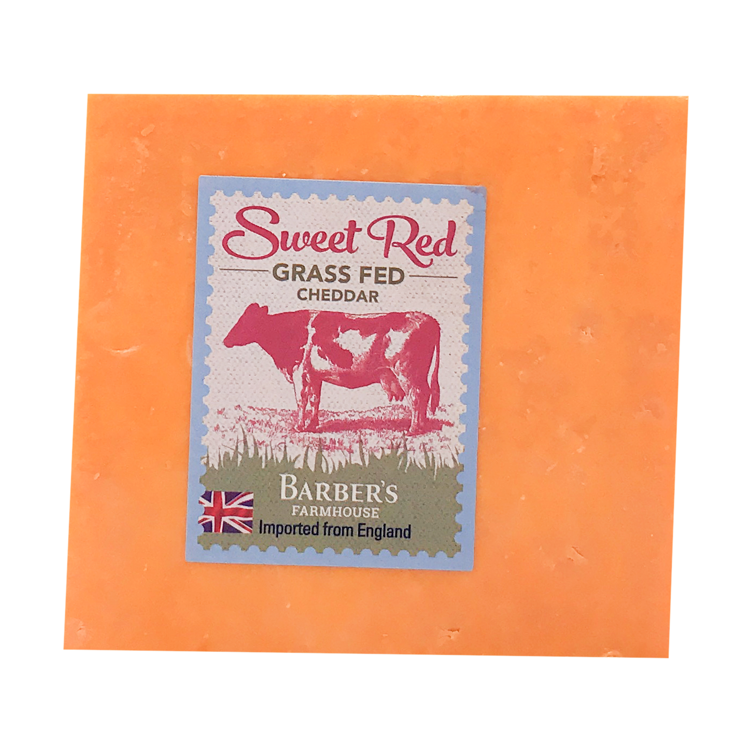 Sweet Red Grass Fed Cheddar, 0.58 lb, BARBERS | Whole Foods Market