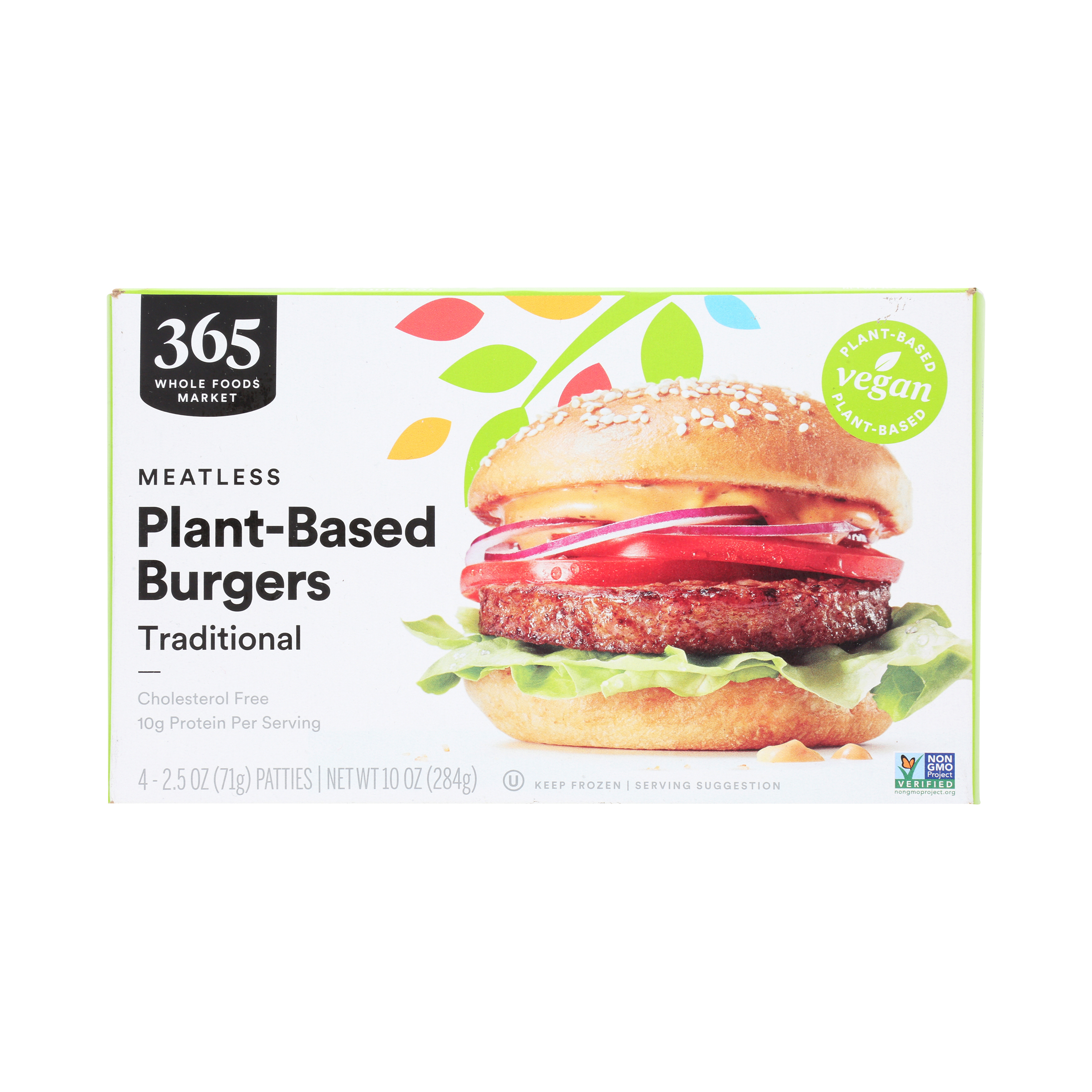 Frozen Traditional Meatless Plant Based Burgers 10 Oz 365 By Whole Foods Market Whole Foods Market