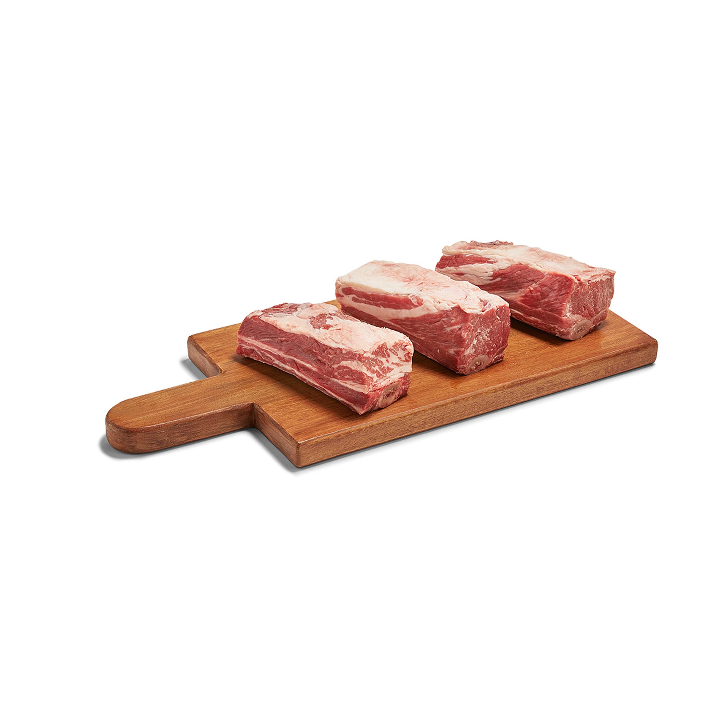 Bone In Flanken Style Beef Short Ribs 1 Lb Hearst Ranch Whole Foods Market